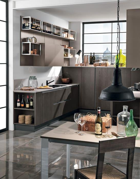 Colombini Casa Cucina Moderna Essenza con tavolo design 54D