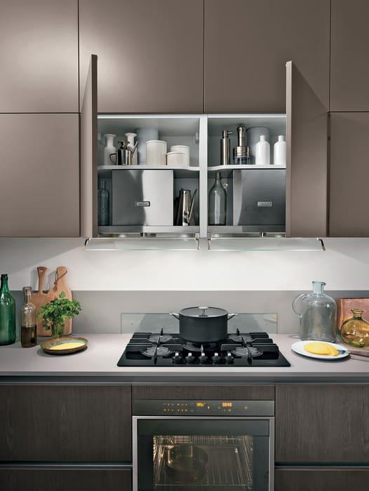 Colombini Casa Cucina Moderna Essenza doppia cappa nascosta 51A