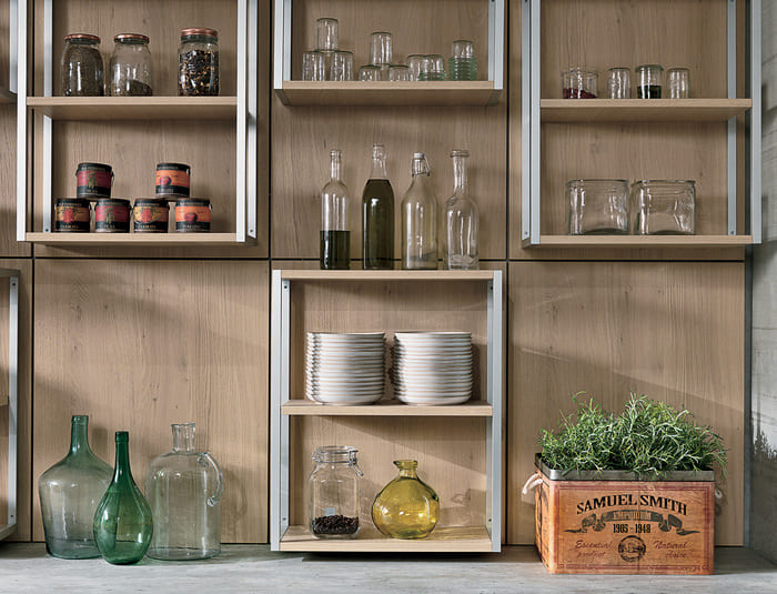 Colombini Casa Cucina Moderna Essenza elementi groove 32A