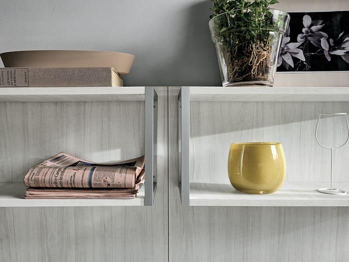Colombini Casa Cucina Moderna Essenza elementi legno acciaio 81A