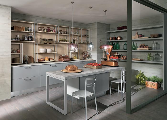 Colombini Casa Cucina Moderna Essenza isola grigia 33
