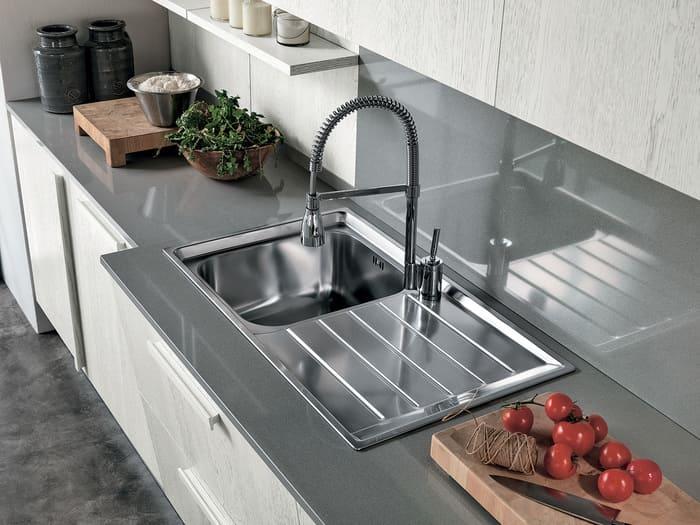 Colombini Casa Cucina Moderna Essenza lavandino acciaio 13