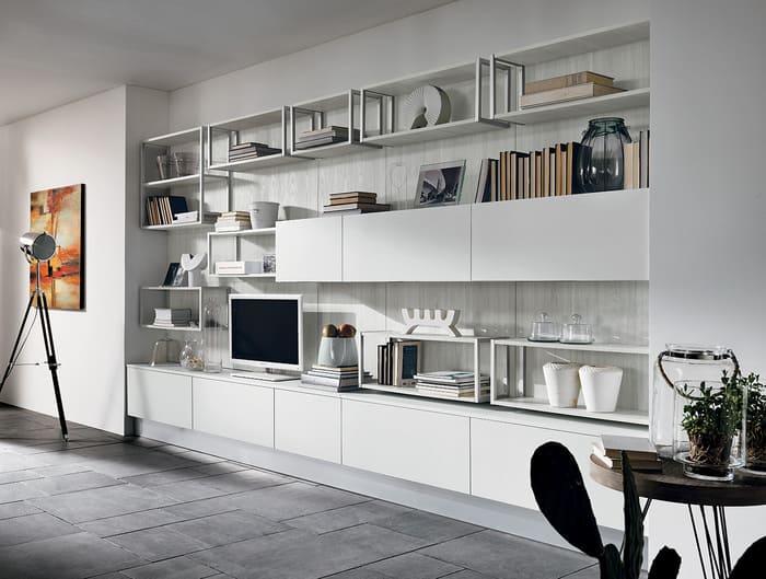 Colombini Casa Cucina Moderna Essenza mobile giorno living 74 75