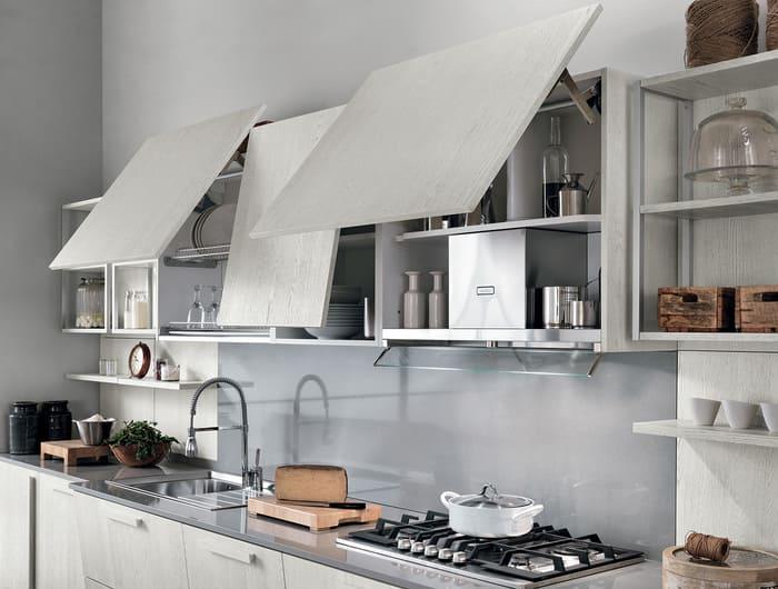 Colombini Casa Cucina Moderna Essenza pensili ante vasistas 17C