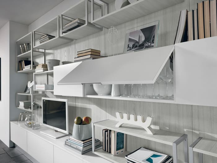 Colombini Casa Cucina Moderna Essenza pensili apertura vasistas 77