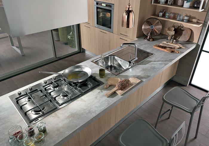 Colombini Casa Cucina Moderna Essenza piano grigio 32B