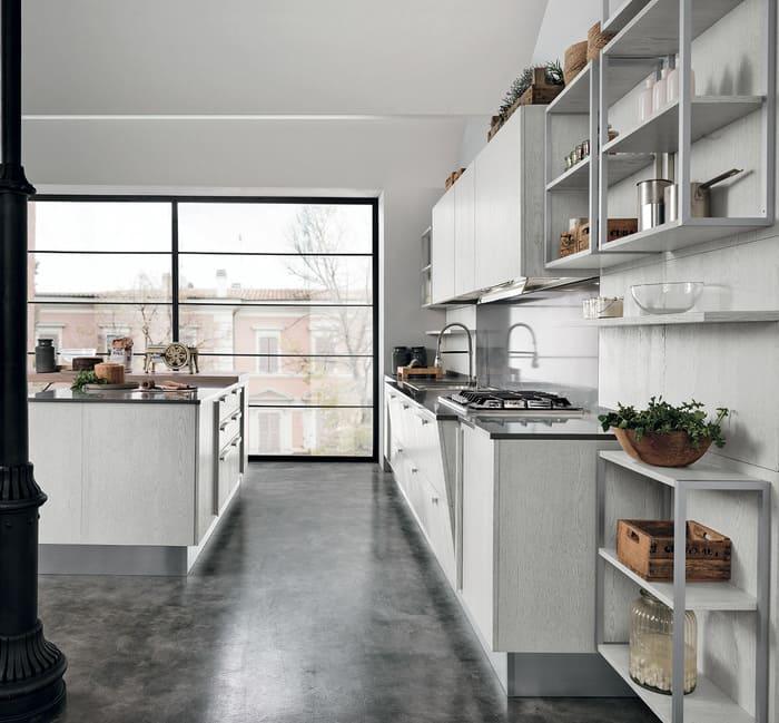 Colombini Casa Cucina Moderna Essenza piano sagomato 12