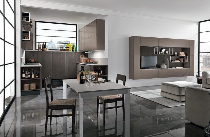 Colombini Casa Cucina Moderna Essenza rovere moka 44 45