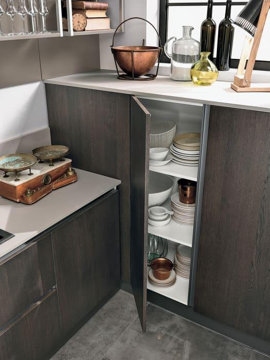 Colombini Casa Cucina Moderna Essenza sportelli finitura poro aperto 54C