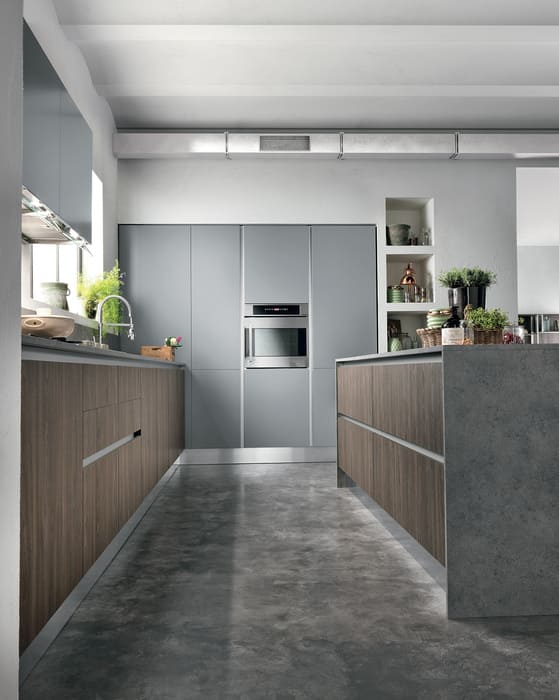 Colombini Casa Cucina Moderna Essenza sportelli grigi 107