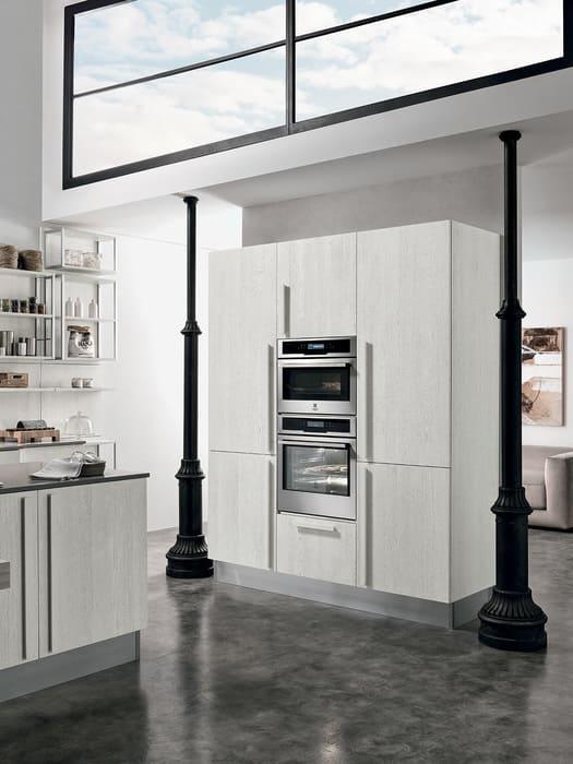 Colombini Casa Cucina Moderna Essenza sportelli rovere bianco 16