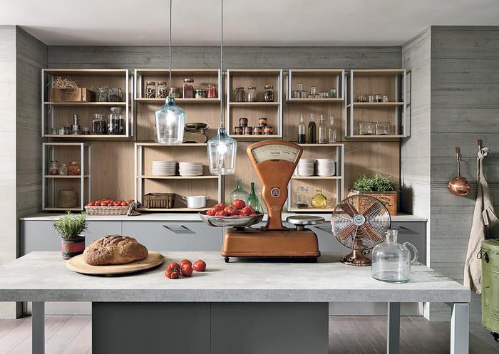 Colombini Casa Cucina Moderna Essenza tavolo grigio pietra 36