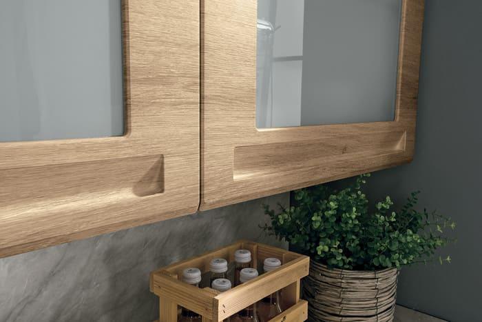 Colombini Casa Cucina Moderna Isla anta con vetro satinato 89b