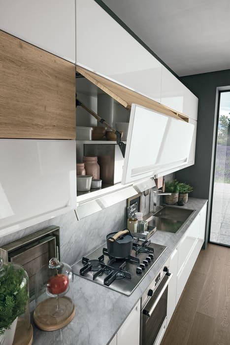 Colombini Casa Cucina Moderna Isla ante con doppia apertura 83b