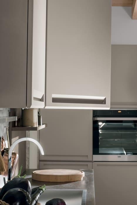 Colombini Casa Cucina Moderna Isla ante con maniglia integrata 66
