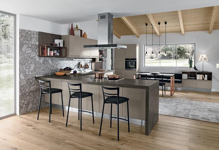 Colombini Casa Cucina Moderna Isla bicolore 64