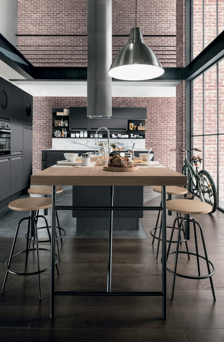 Colombini Casa Cucina Moderna Isla cappa design per stile industriale 2 3