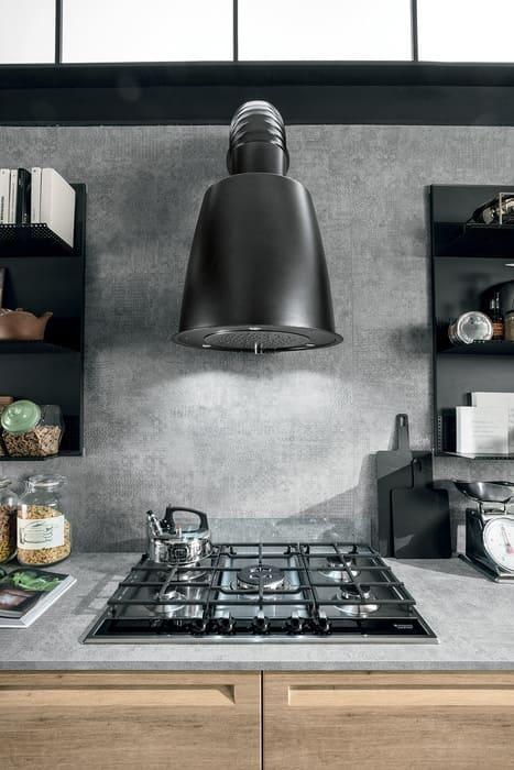 Colombini Casa Cucina Moderna Isla cappa stile industriale 35