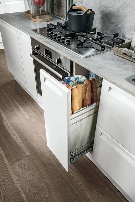Colombini Casa Cucina Moderna Isla cestello scorrevole porta pane 84