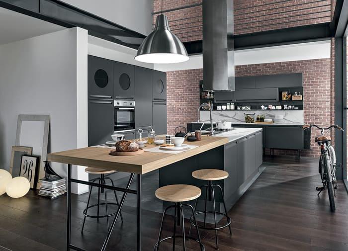 Colombini Casa Cucina Moderna Isla in stile industriale 8 9