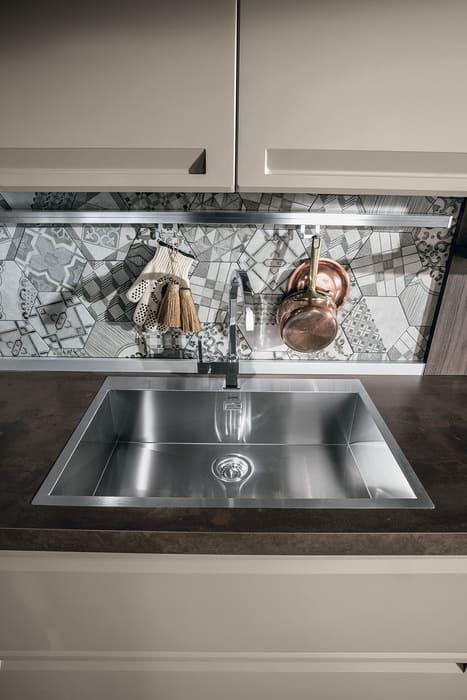 Colombini Casa Cucina Moderna Isla lavello acciaio 67b