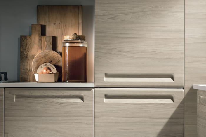 Colombini Casa Cucina Moderna Isla maniglia integrata anta 40 41