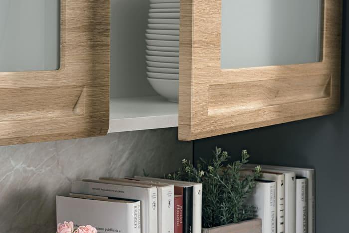 Colombini Casa Cucina Moderna Isla maniglia integrata anta 89a