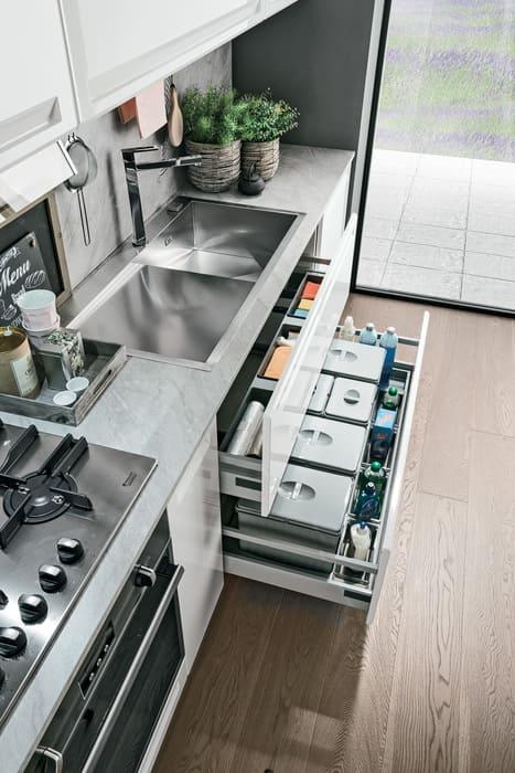 Colombini Casa Cucina Moderna Isla maxi cassetto per differenziata 85c