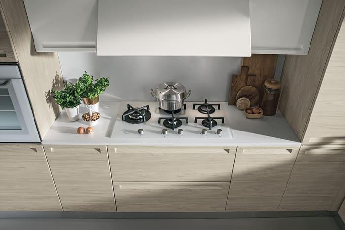 Colombini Casa Cucina Moderna Isla piano cottura bianco 50a