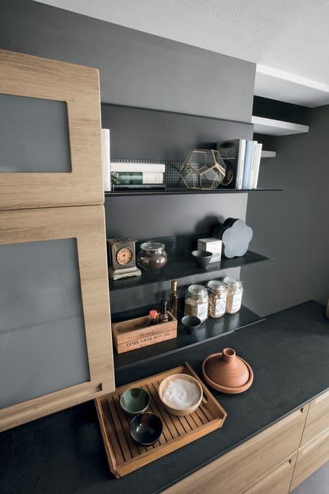 Colombini Casa Cucina Moderna Isla scaffali giorno in metallo 102