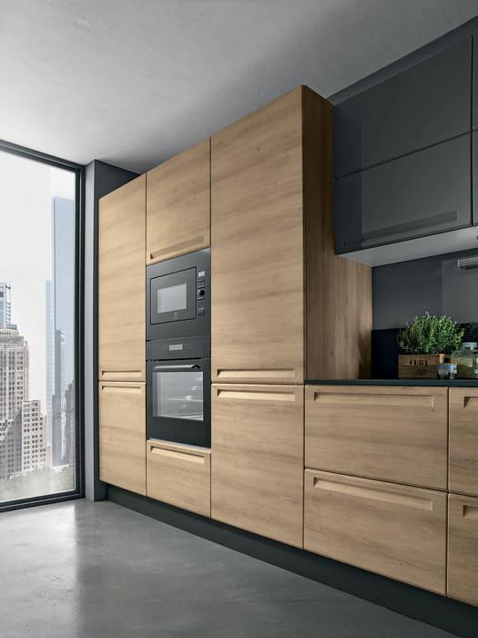 Colombini Casa Cucina Moderna Isla sortelli rovere miele 108a