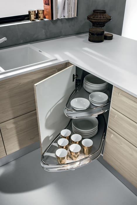Colombini Casa Cucina Moderna Isla sportelli con cestelli 52b