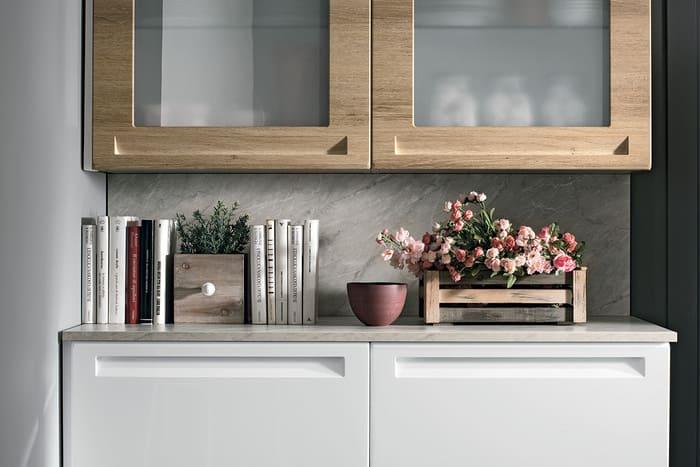 Colombini Casa Cucina Moderna Isla sportelli con vetri 76 77
