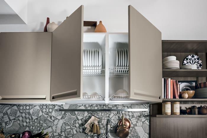Colombini Casa Cucina Moderna Isla sportelli porta piatti 67a
