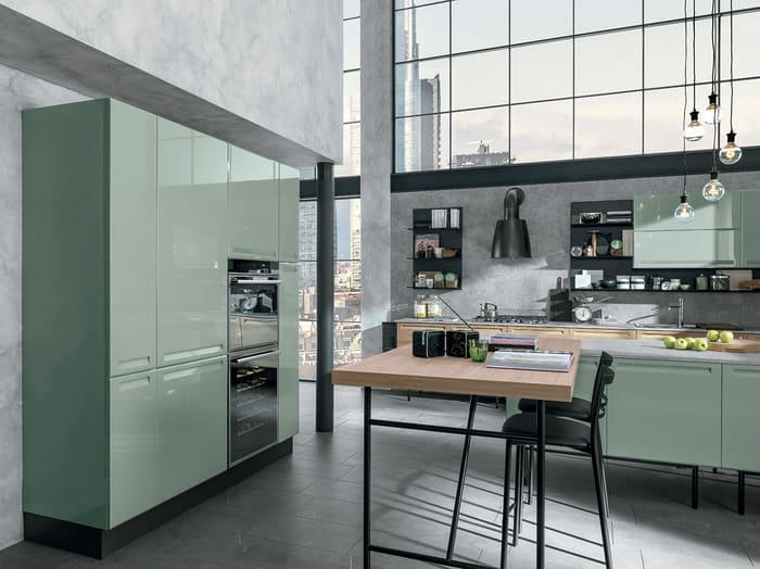Colombini Casa Cucina Moderna Isla sportelli te verde 26