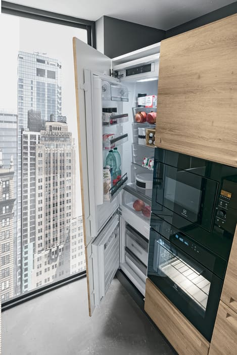 Colombini Casa Cucina Moderna Isla sportello per frigo 108b