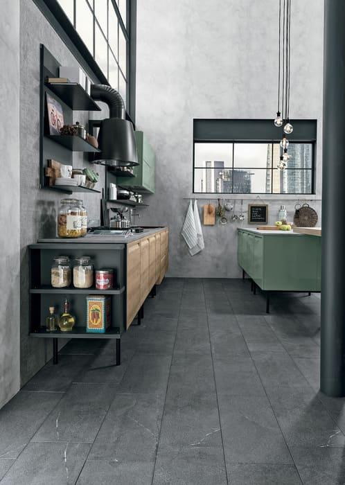 Colombini Casa Cucina Moderna Isla stile industriale 28