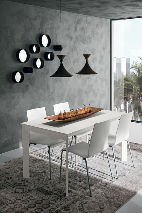 Colombini Casa Cucina Moderna Isla tavolo bianco coordinato 55
