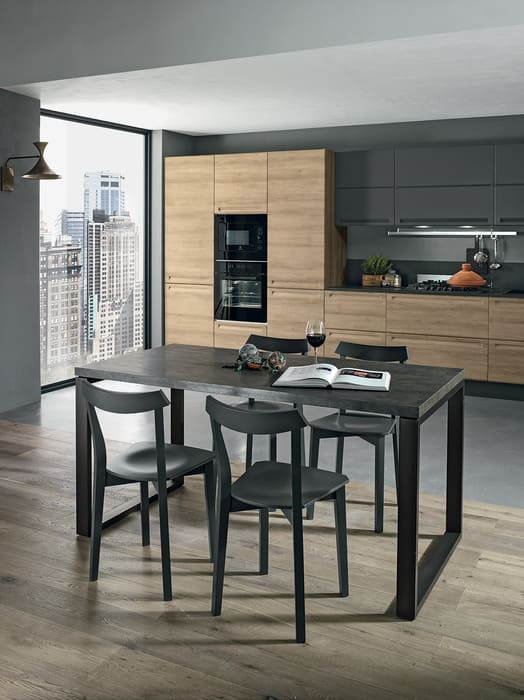 Colombini Casa Cucina Moderna Isla tavolo grafite coordinato 109