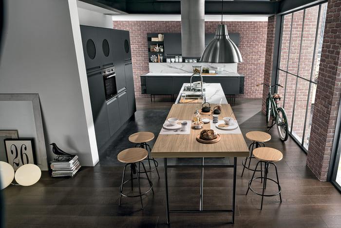 Colombini Casa Cucina Moderna Isla tavolo isola legno 10 11