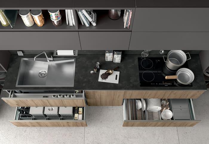 Colombini Casa Cucina Moderna Linea composizione tipo 62 63