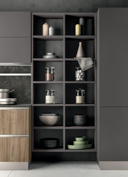 Colombini Casa Cucina Moderna Linea mensole elementi giorno 64