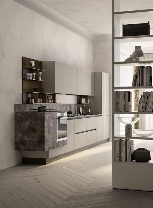 Colombini Casa Cucina Moderna Lungomare2 cucina e libreria pag30