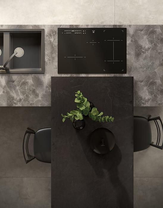 Colombini Casa Cucina Moderna Lungomare3 piano cottura penisola pag 43b
