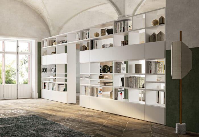Colombini Casa Cucina Moderna Lungomare5 libreria Trenta pag72 73 scaled 1