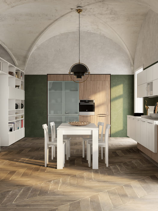 Colombini Casa Cucina Moderna Lungomare5 tavolo sedie pag66