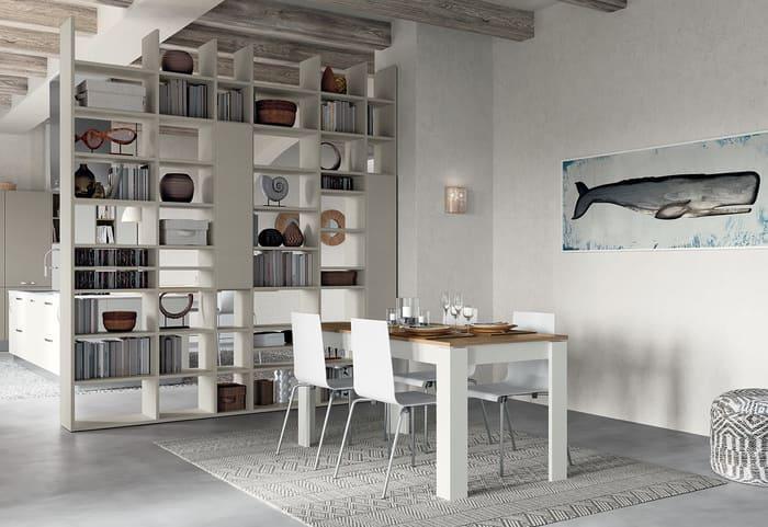 Colombini Casa Cucina Moderna Paragon abbinata a tavolo e sedie 16 17