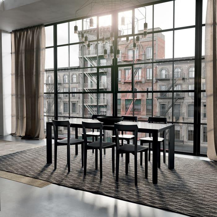 Colombini Casa Cucina Moderna Paragon abbinata con tavolo 40