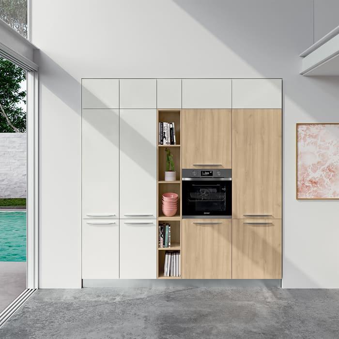 Colombini Casa Cucina Moderna Paragon bianca e ciliegio 58a
