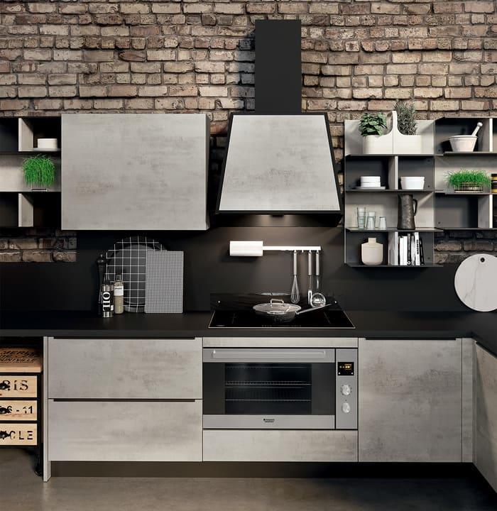 Colombini Casa Cucina Moderna Paragon cappa rivestita 43a
